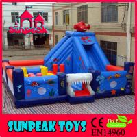 Wholesale PG-169 Inflatable Playground RentalsInflatable Slide shark from china suppliers