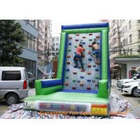 China Customized Inflatable Sport Games , Rocky Mountain Deluxe Inflatable Climbing Wall on sale