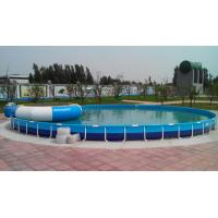 Wholesale Family Entertainment Metal Framed Swimming Pools Round Custom Made from china suppliers