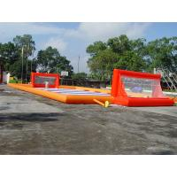 Wholesale Durable Soap Soccer Field / 0.55mm Pvc Tarpaulin Inflatable Soccer Field For Sale from china suppliers