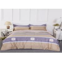 Wholesale Fashion King Pattern Cotton Bedding Sets Purple Color Breathable from china suppliers