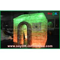 China Customized Full Printing Inflatable Photo Booth , Portable Inflatable Cube House on sale