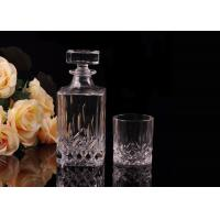 Quality Hand Made Colored Glass Wine Bottles With Corks , Luxury Wine Bottle for sale