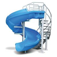 Wholesale OEM Fiberglass Kids' Water Slides Playground System , Swimming pool Play Equipment from china suppliers