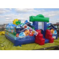 Wholesale Commercial Inflatable Amusement Park / Zoo Jumping Castle 7x7m 0.55mm PVC Tarpaulin from china suppliers