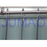 Wholesale Fireproof Silver Metal Mesh Curtains Metal Coil Drapery For Exhibition Blinds from china suppliers