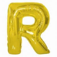 Wholesale Foil Letter Balloon, Made of PA/PE/AL, Comes in Gold/Silver, Used for Parties/Weddings from china suppliers