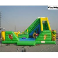 Wholesale Green forest with animas inflatable slide combo (CYFC-05) from china suppliers