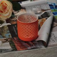Recyclable Ceramic Candle Holder , Colored Votive Candle Holders