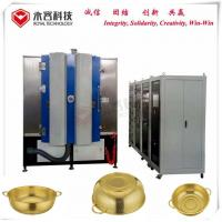 Wholesale Stainless Steel Pot Titanium Nitride Coating Machine, TiN gold decorative coating on stainless steel kitchenware from china suppliers