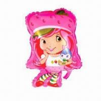 Wholesale Cartoon Strawberry Girl Balloon for Advertisement or Parties, Made of PA and PE from china suppliers
