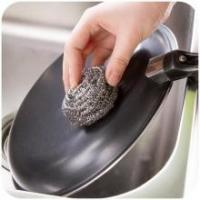 Quality Antibacterial Stainless Steel Scouring Pad , Oil Removing Metal Dish Scrubber for sale