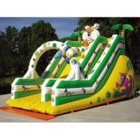 Wholesale OEM Colorful Tiger Castle Commercial Inflatable Slide fire retardant from china suppliers