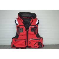 Wholesale Red Nylon EPE Foam Watersport Life Jackets / life vest jacket for Rescue from china suppliers