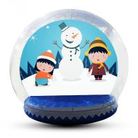Wholesale Advertising Custom Christmas Blow Up Snow Globe Double And Quadruple Stitched from china suppliers
