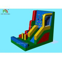 Colorful Inflatable Sports Games / Blow Up Climbing Wall Combine Kids Slide