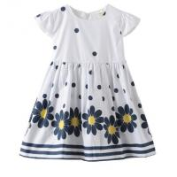 Wholesale Summer Infant Baby Girl Dresses / Newborn Girl Dresses With Waistband And Prints from china suppliers