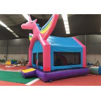 Wholesale Pink Rainbow Unicorn Bounce House For Adult Fire Retardant And UV Protective Material from china suppliers