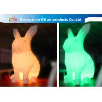 LED Color Changing Inflatable Easter Bunny Costume , Giant Inflatable Rabbit