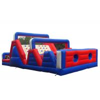 Wholesale Outdoor Kids Obstacle Bounce House , Adrenaline Rush Cross Bouncy Obstacle Course from china suppliers