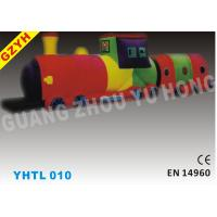 Wholesale 0.55mm PVC Train Attractive Inflatable Sports Tunnel YHTL-010 in 12*3.5*3 m from china suppliers