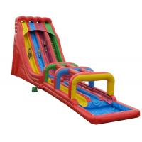 China Inflatable Obstacle Course Jumping Castle Water Slide , Kids Bouncy Castle With Slide on sale