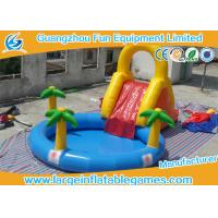 China Forest Toddler Commercial Inflatable Slide High Strength Fire Resistant inflatable slide with pool on sale