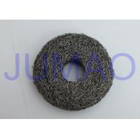China Overall Rigidity Knitted Mesh Filters High Strength Round With Hole In Center on sale