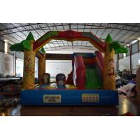 Wholesale Jungle inflatable forest animals jump house PVC fabric middle size inflatable animals bouncy on sale from china suppliers