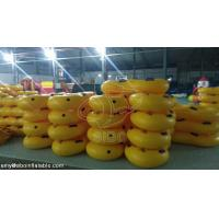 China Durable Yellow Inflatable Water Parks Customized Inflatable Swim Ring With Handle on sale
