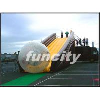 Wholesale 0.55mm PVC Tarpaulin Inflatable Zorbing Ramp with Long Slide Inflatable Zorb Ball from china suppliers