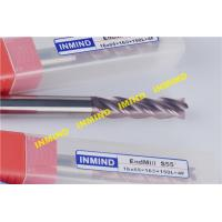 Wholesale ALCRONA Coating HRC65 Square Solid End Mill , High Hardness Carbide End Mill Bits from china suppliers