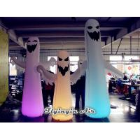 Wholesale Led Inflatable Ghost with Lights for Halloween Night Decoration from china suppliers