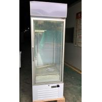 Wholesale Single Glass Ice Cream Upright Display Freezer With LED Canopy And Embraco Compressor from china suppliers