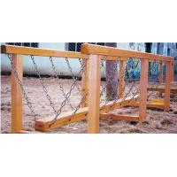 Wholesale Children Outdoor Wood Single-plank Bridge Playground Equipment from china suppliers