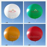 Buy cheap 3m Colorful Inflatable Advertising Helium Balloon with Free Logo Printing from wholesalers