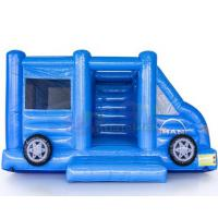 Quality Motor Vehicle Inflatable Jumpers Commercial 0.55mm Pvc Moon Bounce House for sale