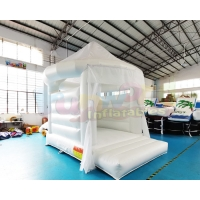 Wholesale OEM Commercial Inflatable White Bouncy Castle For Kindergarten from china suppliers