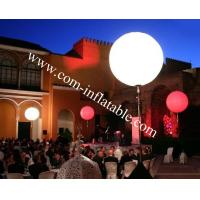 Wholesale Tripod Standing inflatable RGB LED Balloon,Inflatable custom print Ball tripod balloon from china suppliers