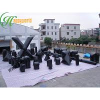 Wholesale Attractive Cool Black Speedball Inflatable Bunkers For Indoor Paintball Field from china suppliers