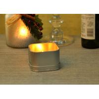 Quality Decoration Tin Tea Light Holders / Votive Candle Jar Holders With Lids for sale