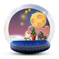 Quality Transparent Inflatable Human Snow Globe Photo Booth With Blower EN71 for sale