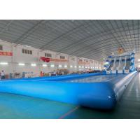 China Amusement Inflatable Water Parks With Slide 420D Polyester Coated PVC Waterproof on sale