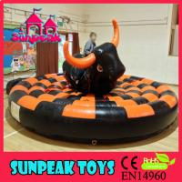 China SP-1461 Inflatable Bull Riding Machine Bull Rodeo Simulator For Sale on sale
