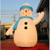 Wholesale 8OZ Fabric Inflatable Christmas Decorations / Blow Up Snowman For Winter from china suppliers