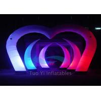 Wholesale Color Changing LED Light Curved Inflatable Stage Decoration With Sturdy Fabric from china suppliers
