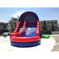 Quality Summer Kids / Adult Inflatable Water Slides With Blower Blue And Red for sale