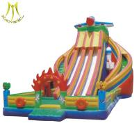 Wholesale Hansel inflatable jumping bouncer castle with inflatable island water slide from china suppliers