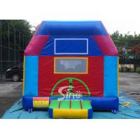 China Indoor kids small bouncy castle with pillars N obstacle inside made of lead free certified pvc tarpaulin here in Sino In on sale