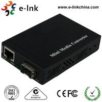 Wholesale Mini 10 / 100 / 1000M SFP Fiber Ethernet Media Converter With External Power Supply from china suppliers